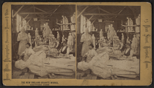 800px-The_New_England_Granite_Works,_Hartford,_Conn._(Stone_carvers_working_on_large_sculpture_of_a_soldier),_by_Isaac_White