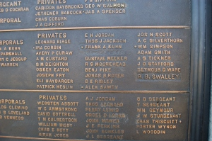 Name plaques on the Pennsylvania Monument