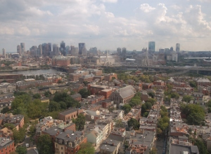 View from the top of the Bunker Hill Monument (slightly smudgy due to protective glass)