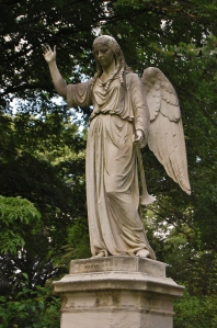 Martin Milmore, Angel of the Resurrection, Mount Auburn Cemetery